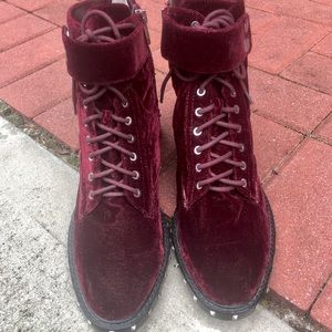 Velvet Talorini Lace-Up Boots